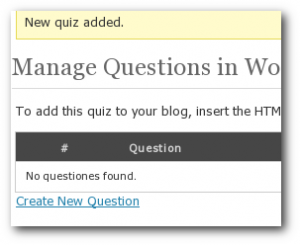 Quizzin WordPress Plugin - Mange Questions in Quiz